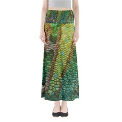 Colorful Chameleon Skin Texture Maxi Skirts