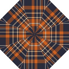 Tartan Background Fabric Design Pattern Hook Handle Umbrellas (medium)