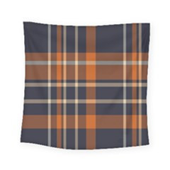 Tartan Background Fabric Design Pattern Square Tapestry (small) by Simbadda