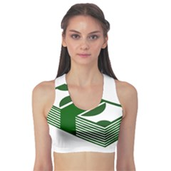 Rich Dollar Money Green Sports Bra by Alisyart