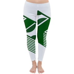 Rich Dollar Money Green Classic Winter Leggings
