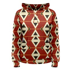 Triangle Arrow Plaid Red Women s Pullover Hoodie