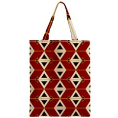 Triangle Arrow Plaid Red Zipper Classic Tote Bag by Alisyart