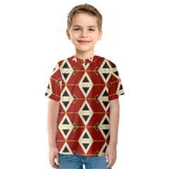 Triangle Arrow Plaid Red Kids  Sport Mesh Tee by Alisyart