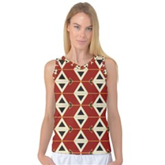 Triangle Arrow Plaid Red Women s Basketball Tank Top by Alisyart