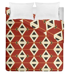Triangle Arrow Plaid Red Duvet Cover Double Side (queen Size)
