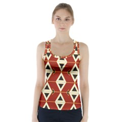 Triangle Arrow Plaid Red Racer Back Sports Top by Alisyart
