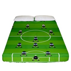 Soccer Field Football Sport Fitted Sheet (california King Size) by Alisyart