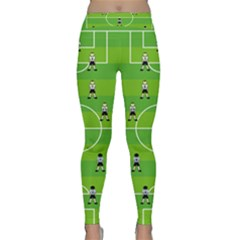 Soccer Field Football Sport Classic Yoga Leggings by Alisyart