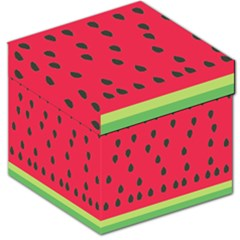 Watermelon Fan Red Green Fruit Storage Stool 12   by Alisyart