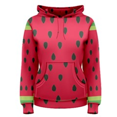 Watermelon Fan Red Green Fruit Women s Pullover Hoodie