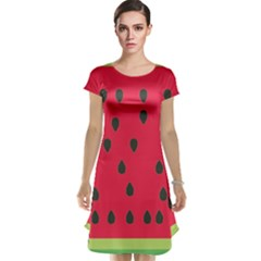 Watermelon Fan Red Green Fruit Cap Sleeve Nightdress
