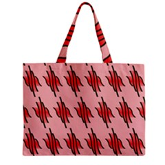 Variant Red Line Zipper Mini Tote Bag by Alisyart