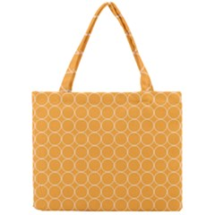 Yellow Circles Mini Tote Bag by Alisyart