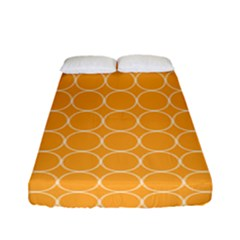 Yellow Circles Fitted Sheet (full/ Double Size) by Alisyart