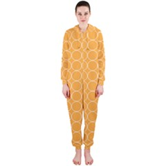 Yellow Circles Hooded Jumpsuit (ladies)
