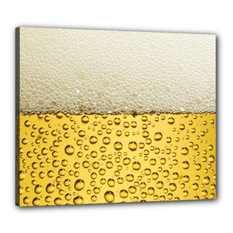 Water Bubbel Foam Yellow White Drink Canvas 24  X 20