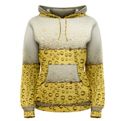 Water Bubbel Foam Yellow White Drink Women s Pullover Hoodie