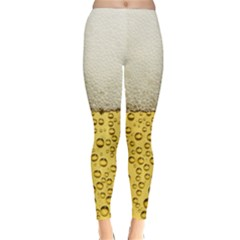 Water Bubbel Foam Yellow White Drink Classic Winter Leggings
