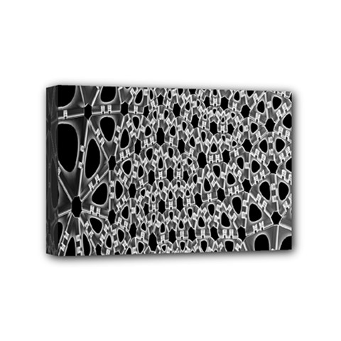 X Ray Rendering Hinges Structure Kinematics Circle Star Black Grey Mini Canvas 6  X 4  by Alisyart
