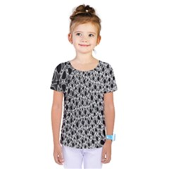 X Ray Rendering Hinges Structure Kinematics Circle Star Black Grey Kids  One Piece Tee by Alisyart