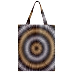 Prismatic Waves Gold Silver Classic Tote Bag