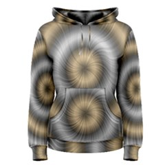 Prismatic Waves Gold Silver Women s Pullover Hoodie