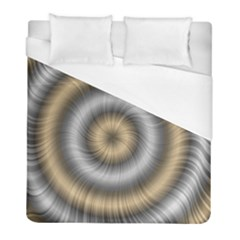 Prismatic Waves Gold Silver Duvet Cover (full/ Double Size) by Alisyart
