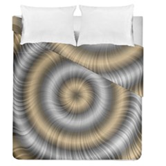 Prismatic Waves Gold Silver Duvet Cover Double Side (queen Size)