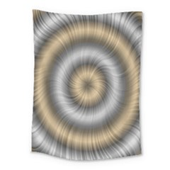 Prismatic Waves Gold Silver Medium Tapestry
