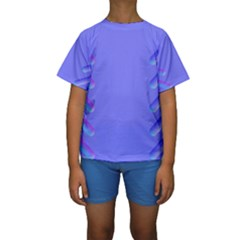 Leftroom Normal Purple Kids  Short Sleeve Swimwear by Alisyart