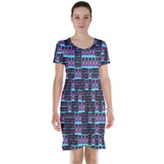 Techno Fractal Wallpaper Short Sleeve Nightdress