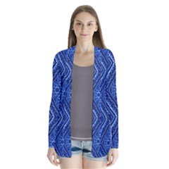 Blue Fractal Background Cardigans by Simbadda