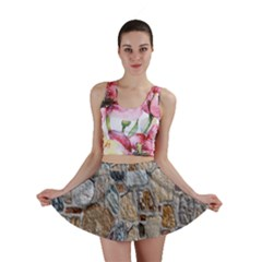 Multi Color Stones Wall Texture Mini Skirt by Simbadda