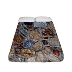 Multi Color Stones Wall Texture Fitted Sheet (full/ Double Size) by Simbadda