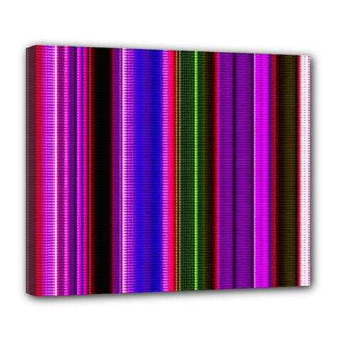 Fun Striped Background Design Pattern Deluxe Canvas 24  X 20   by Simbadda