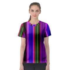 Fun Striped Background Design Pattern Women s Sport Mesh Tee by Simbadda