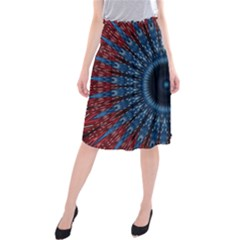 Digital Circle Ornament Computer Graphic Midi Beach Skirt