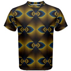 Fractal Multicolored Background Men s Cotton Tee