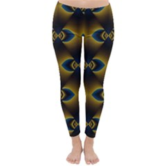 Fractal Multicolored Background Classic Winter Leggings