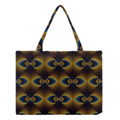 Fractal Multicolored Background Medium Tote Bag by Simbadda