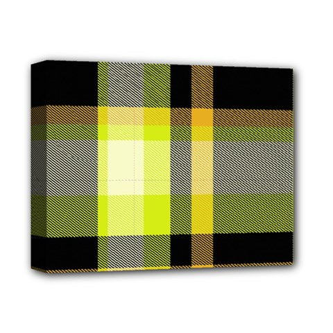Tartan Pattern Background Fabric Design Deluxe Canvas 14  X 11  by Simbadda
