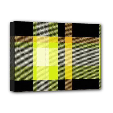 Tartan Pattern Background Fabric Design Deluxe Canvas 16  X 12