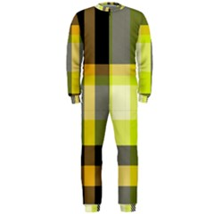 Tartan Pattern Background Fabric Design Onepiece Jumpsuit (men)  by Simbadda