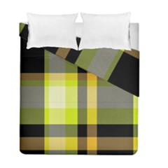 Tartan Pattern Background Fabric Design Duvet Cover Double Side (full/ Double Size) by Simbadda