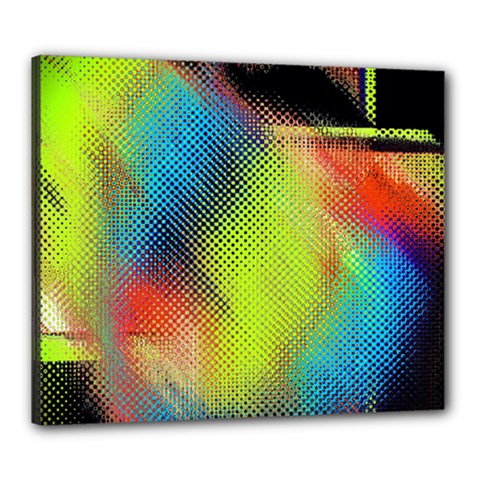 Punctulated Colorful Ground Noise Nervous Sorcery Sight Screen Pattern Canvas 24  X 20