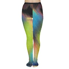 Punctulated Colorful Ground Noise Nervous Sorcery Sight Screen Pattern Women s Tights by Simbadda