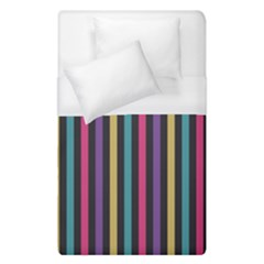 Stripes Colorful Multi Colored Bright Stripes Wallpaper Background Pattern Duvet Cover (single Size) by Simbadda