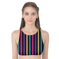 Stripes Colorful Multi Colored Bright Stripes Wallpaper Background Pattern Tank Bikini Top