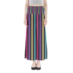 Stripes Colorful Multi Colored Bright Stripes Wallpaper Background Pattern Maxi Skirts